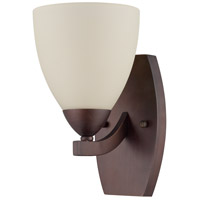 Almeda 1 Light 6 inch Old Bronze Wall Sconce Wall Light in Creamy Frosted Glass