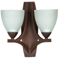 Craftmade 37762-OLB-WF Almeda 2 Light 14 inch Old Bronze Wall Sconce Wall Light in White Frosted Glass