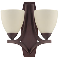Craftmade 37762-OLB Almeda 2 Light 14 inch Old Bronze Wall Sconce Wall Light in Creamy Frosted Glass