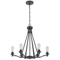 Hadley 6 Light 26 inch Aged Bronze Chandelier Ceiling Light