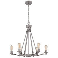 Hadley 6 Light 26 inch Aged Galvanized Chandelier Ceiling Light