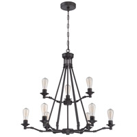 Hadley 9 Light 34 inch Aged Bronze Chandelier Ceiling Light