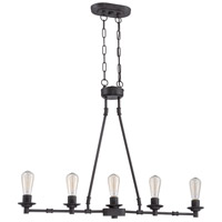 Jeremiah by Craftmade Hadley 5 Light Island Chandelier in Aged Bronze 37875-ABZ