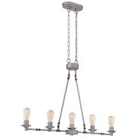 Jeremiah by Craftmade Hadley 5 Light Island Chandelier in Aged Galvanized 37875-AGV