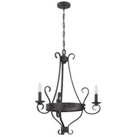 Jeremiah by Craftmade Ellsworth 3 Light Chandelier in Charcoal 37923-CHL