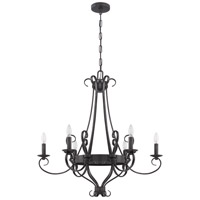 Ellsworth 6 Light 30 inch Charcoal Chandelier Ceiling Light