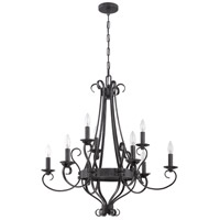 Jeremiah by Craftmade Ellsworth 9 Light Chandelier in Charcoal 37929-CHL