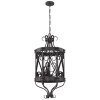 Jeremiah by Craftmade Ellsworth 3 Light Foyer Chandelier in Charcoal 37933-CHL