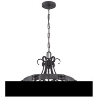 Jeremiah by Craftmade Ellsworth 6 Light Foyer Chandelier in Charcoal 37936-CHL