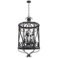 Jeremiah by Craftmade Ellsworth 9 Light Foyer Chandelier in Charcoal 37939-CHL