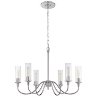 Craftmade 38026-CH Modina 6 Light 30 inch Chrome Chandelier Ceiling Light