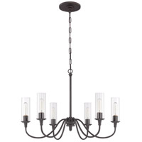 Modina 6 Light 30 inch Espresso Chandelier Ceiling Light
