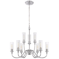 Craftmade 38029-CH Modina 9 Light 30 inch Chrome Chandelier Ceiling Light