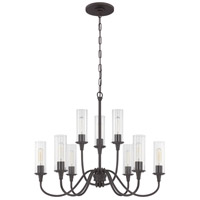 Craftmade 38029-ESP Modina 9 Light 30 inch Espresso Chandelier Ceiling Light