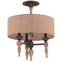 Jeremiah by Craftmade Glenwood 3 Light Convertible Semi Flush in Aged Bronze & Distressed Oak 38153-JBZDO