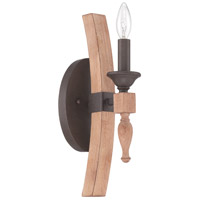 Glenwood 1 Light 6 inch Aged Bronze & Distressed Oak Wall Sconce Wall Light
