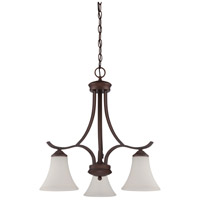 Arabella 3 Light 23 inch Old Bronze Chandelier Ceiling Light in White Frosted Glass