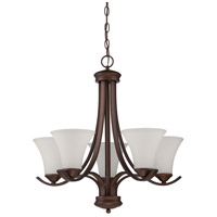 Craftmade 38225-OB Arabella 5 Light 24 inch Old Bronze Chandelier Ceiling Light in White Frosted Glass
