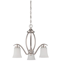 Craftmade 38323-SN Northlake 3 Light 22 inch Satin Nickel Down Chandelier Ceiling Light