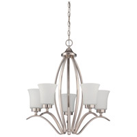 Craftmade 38325-SN Northlake 5 Light 24 inch Satin Nickel Chandelier Ceiling Light