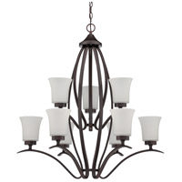 Jeremiah by Craftmade Northlake 9 Light Chandelier in Aged Bronze 38329-ABZ