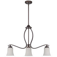 Jeremiah by Craftmade Northlake 3 Light Island Chandelier in Aged Bronze 38373-ABZ