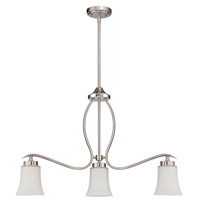 Jeremiah by Craftmade Northlake 3 Light Island Chandelier in Satin Nickel 38373-SN