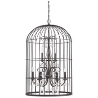 Jeremiah by Craftmade Ivybridge 9 Light Chandelier in Valencian Iron 38429-VI