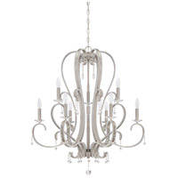 Jeremiah by Craftmade Andrianna 9 Light Chandelier in Brushed Nickel 38529-BNK