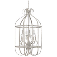 Andrianna 8 Light 28 inch Brushed Nickel Foyer Chandelier Ceiling Light