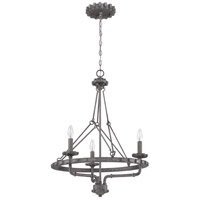 Prime 3 Light 22 inch Aged Galvanized Foyer Light Ceiling Light