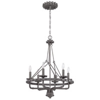 Prime 6 Light 22 inch Aged Galvanized Foyer Chandelier Ceiling Light