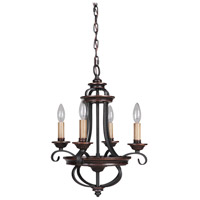 Craftmade 38724-AGTB Stafford 4 Light 15 inch Aged Bronze and Textured Black Chandelier Ceiling Light alternative photo thumbnail