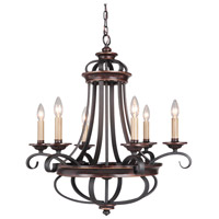 Craftmade 38726-AGTB Stafford 6 Light 26 inch Aged Bronze/Textured Black Chandelier Ceiling Light alternative photo thumbnail