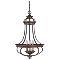 Jeremiah by Craftmade Stafford 3 Light Foyer Chandelier in Aged Bronze & Textured Black 38733-AGTB