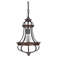 Jeremiah by Craftmade Stafford 1 Light Mini Pendant in Aged Bronze & Textured Black 38791-AGTB