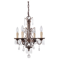 Sylvan 4 Light 16 inch Peruvian Bronze Chandelier Ceiling Light