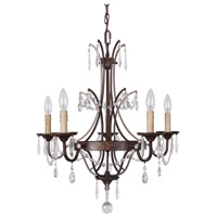 Sylvan 5 Light 22 inch Peruvian Bronze Chandelier Ceiling Light