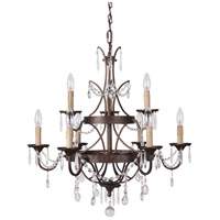 Sylvan 9 Light 26 inch Peruvian Bronze Chandelier Ceiling Light