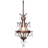 Sylvan 1 Light 11 inch Peruvian Bronze Mini Chandelier Ceiling Light