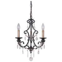 Craftmade 38923-MBK Bentley 3 Light 14 inch Matte Black Chandelier Ceiling Light