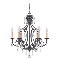 Craftmade 38926-MBK Bentley 6 Light 22 inch Matte Black Chandelier Ceiling Light