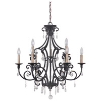 Craftmade 38929-MBK Bentley 9 Light 27 inch Matte Black Chandelier Ceiling Light