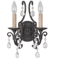 Bentley 2 Light 9 inch Matte Black Wall Sconce Wall Light
