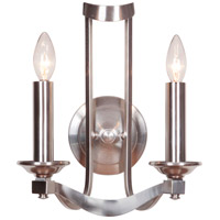 Jeremiah by Craftmade Sydney 2 Light Wall Sconce in Satin Nickel 39062-SN