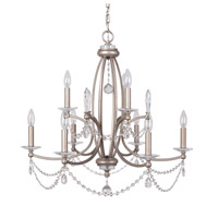 Jeremiah by Craftmade Victoria 9 Light Chandelier in Athenian Obol 39229-AO