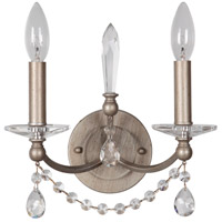 Jeremiah by Craftmade Victoria 2 Light Wall Sconce in Athenian Obol 39262-AO