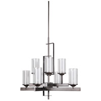 Jeremiah by Craftmade Mod 8 Light Chandelier in Natural Iron & Vintage Iron 39318-NIVNI