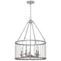 Craftmade 39435-SN Villa 5 Light 22 inch Satin Nickel Pendant Ceiling Light, Cage