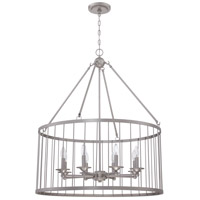 Craftmade 39438-SN Villa 8 Light 30 inch Satin Nickel Pendant Ceiling Light Cage